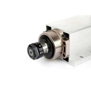 Image 4 - Moteur daxe carré, CNC kw, 220V, 380V, 24000 tr/min, refroidi à lair, ER20, 0.002mm pour fraisage, CNC mm, avec prise et boîte de câbles, Version