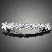 Very Beautiful Made Luxury AAA Level CZ Diamond Hair Clips For Women Nice Flower Bride Marriage