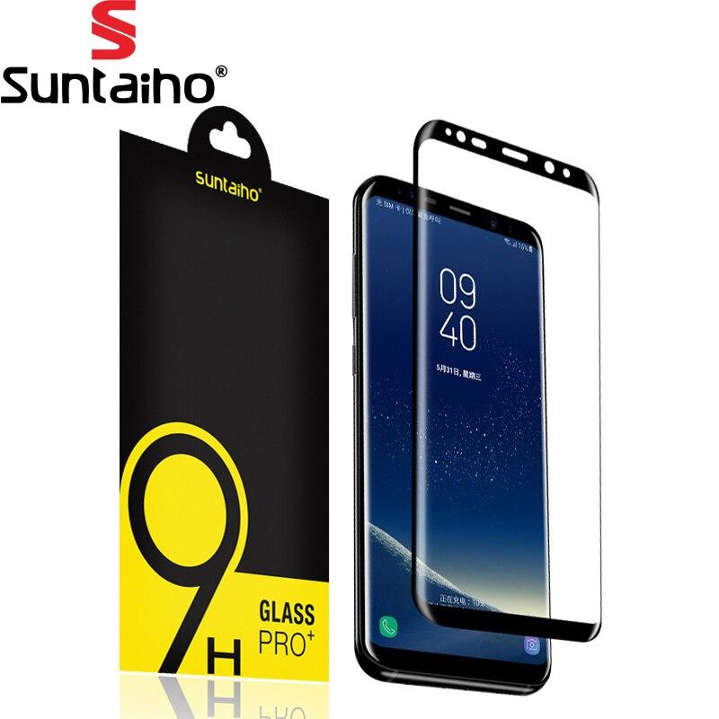 9H 3D Full <font><b>Curved</b></font> <font><b>Screen</b></font> <font><b>Protector</b></font> Suntaiho <font><b>Tempered</b></font> <font><b>Glass</b></font> For Samsung Galaxy S8 <font><b>Tempered</b></font> <font><b>Glass</b></font> For Samsung Galaxy S8 Plus <font><b>Glass</b></font>