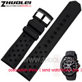 Replacement Watchband 22mm Black silicone bands Breathable and soft  rubber bracelets for TAG Men's watches band