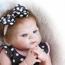 58 CM/23 Polegadas de Vinil Silicone Renascer Baby Dolls Meninas Sexo de Corpo Inteiro Realista Boneca Reborn Bebe Vivo Bonecas Brinquedos Bonecas