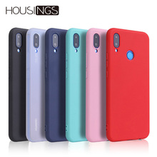 Candy Color Phone Case For Huawei Honor P20 lite 8x 7c 9 10 Lite Simple Y9 Y6 Y5 For Honor 7C 7A Pro 8C P Smart Fashion Cover luxury fashion glitter shining cases for huawei y9 2019 y6 2018 y5 honor 8x 10 tpu phone back cover mate 20 lite case p20 pro 9