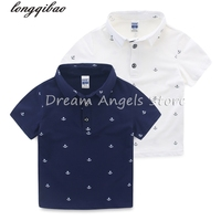 High Quality Splice New Boy Polo Shirt Boy S Camp Business Casual Solid Polo Shirt Short