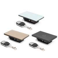 US Standard Remote Control Switch 1 Gang 1 Way Smart Wall Switch Wireless Remote Control Touch
