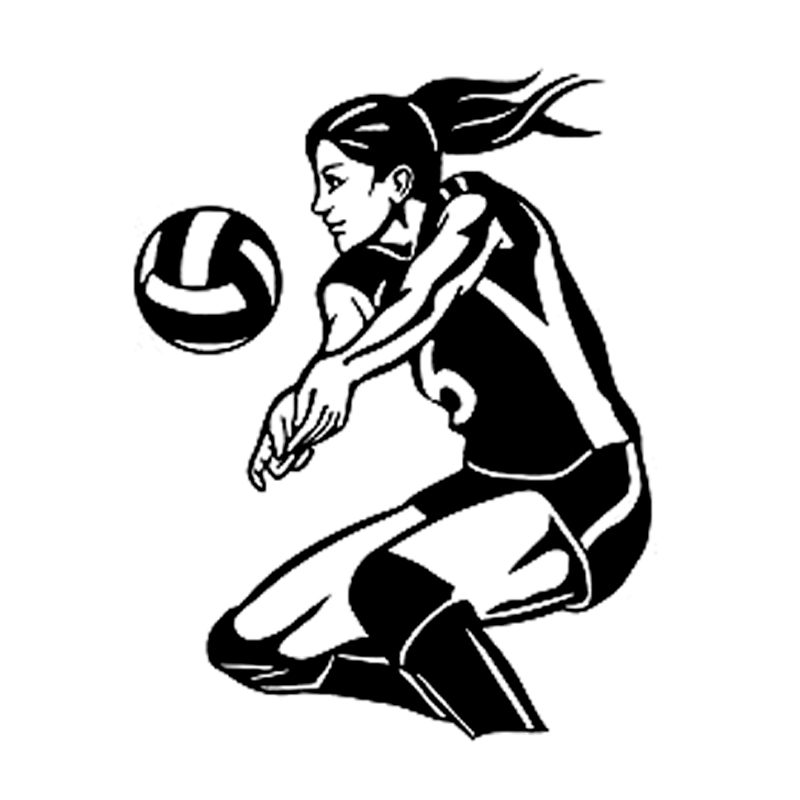12cm 15 7cm Fashion Volleyball Fitness Sport Silhouette