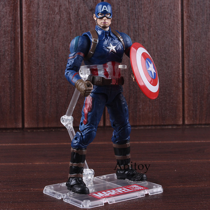 Marvel Action Figures Captain America 3 Civil War Toys Captain America PVC Collectible Model Toys for Boys 1pc new marvel building blocks founder stan lee superhero captain america diy figures best kids education learning toys