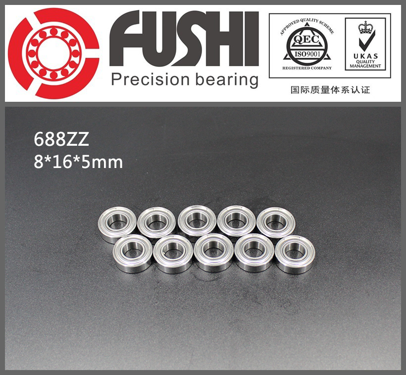 688ZZ Bearing ABEC-5 10PCS 8x16x5 mm Miniature 688Z Mini Ball Bearings 618/8ZZ EMQ Z3 V3 Quality 688 ZZ 6903zz bearing abec 1 10pcs 17x30x7 mm thin section 6903 zz ball bearings 6903z 61903 z