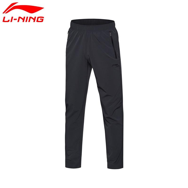 Li-Ning Men Training Series Pants Breathable 86% Polyester 14% Spandex LiNing Pants AYKM147 MKY304 original li ning men professional basketball shoes