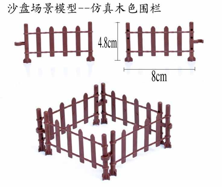 Legoing City 10Pcs/lot Blocks Animal Fence Bricks Firefighting Accessory Kids DIY Toy Compatible With figure Cities Set Legoings