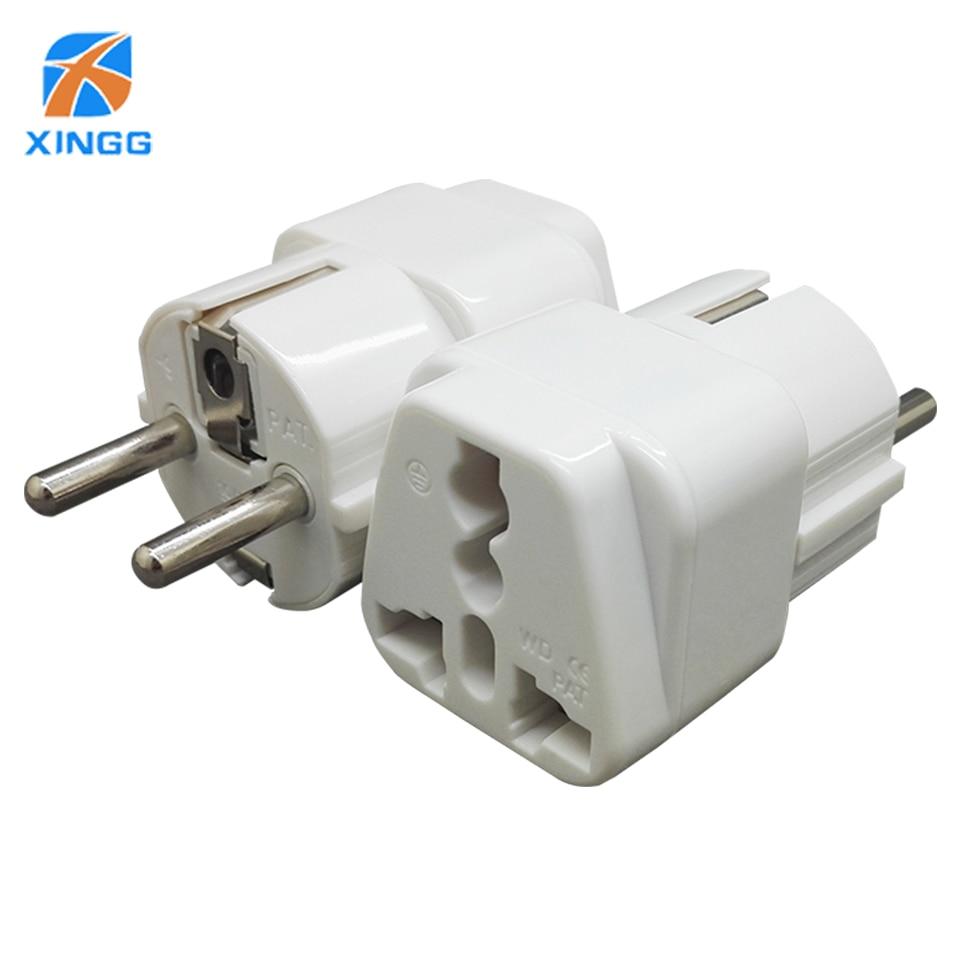 XINGG Eu Plug Adapter Converter 250V White EU To US Outlet Plug Travel Charger Adapter EU Plug Converter Eu Electric Socket