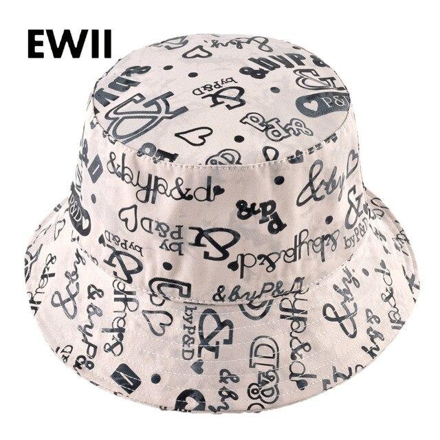 512ed77a1d5 Sun fishing bucket hat for men summer bob hip hop caps women wide brim  floppy cap unisex letter sun hats bone feminino