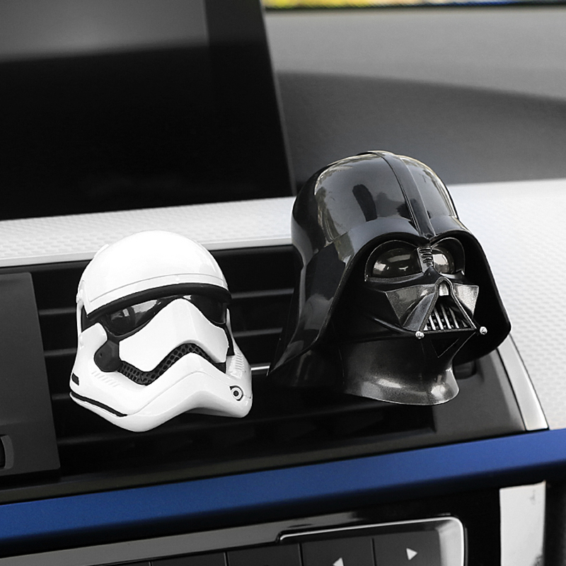Car Ornament Air Freshener Automobile Air Condition Vents Clip Decorative Cartoon for Star War Car Air Outlet Perfume Auot Decor car outlet perfume air freshener with thermometer white black