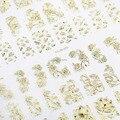 Конфеты Любовник Горячие Продажа Топ Мода 3D Золотой Металлик Цветы Наклейки Высокое Качество 108 шт./Лист Nail Art Маникюр наклейки Наклейка