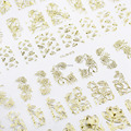 Candy Lover Hot Sale Top Fashion 3D Gold Metallic Flowers Sticker High Quality 108pcs/Sheet  Nail Art Manicure Stickers Decal