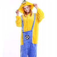 Cartoon Animals Onesie Costumes Kigurumi Adult Women Men Pajamas Overalls Flannel Warm Party Suit Funny Unicorn