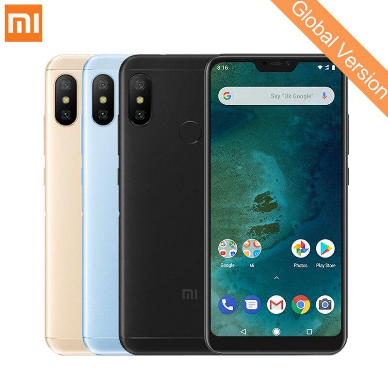 Mondial Version Xiao mi mi A2 Lite 4 gb 64 gb Mobile Téléphones Snapdragon 625 Octa Core 12MP + 5MP double Caméra 4000 mah (typ) android Un