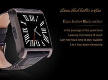 Dm08 smart watchสำหรับผู้ชายผู้หญิงหนังสายสแตนเลสแบบdialจอแอลซีดีหน้าจอสัมผัสcapacitive hd 1.3เมตรกล้องน้ำทุกวันหลักฐาน