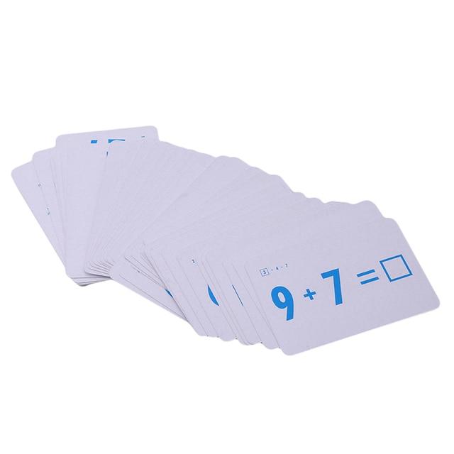 Mathematics Teaching Card Filling in The Blank Math Card Toys for Children Kids Preschool Educational Tool Kindergarten Games