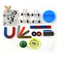 1 zestaw z 19 sztuk Na Nauczanie Bar Magnes Podkowy Pierścień Pudełko w kształcie litery U Dostać Kompas Kompas