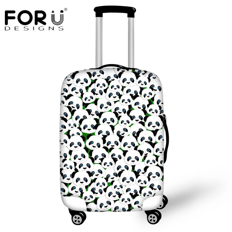 Forudesigns путешествие по дороге забавные животные панда головоломки Чемодан защитный Чехлы для мангала для 18-30 дюймов чемодан плотные эластич...