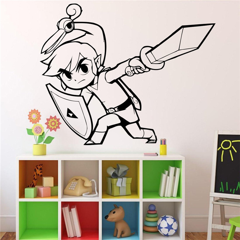 Princess Zelda Wall Decal Video Game Of Home Interior Living Room Decor Door Stickers Housewares