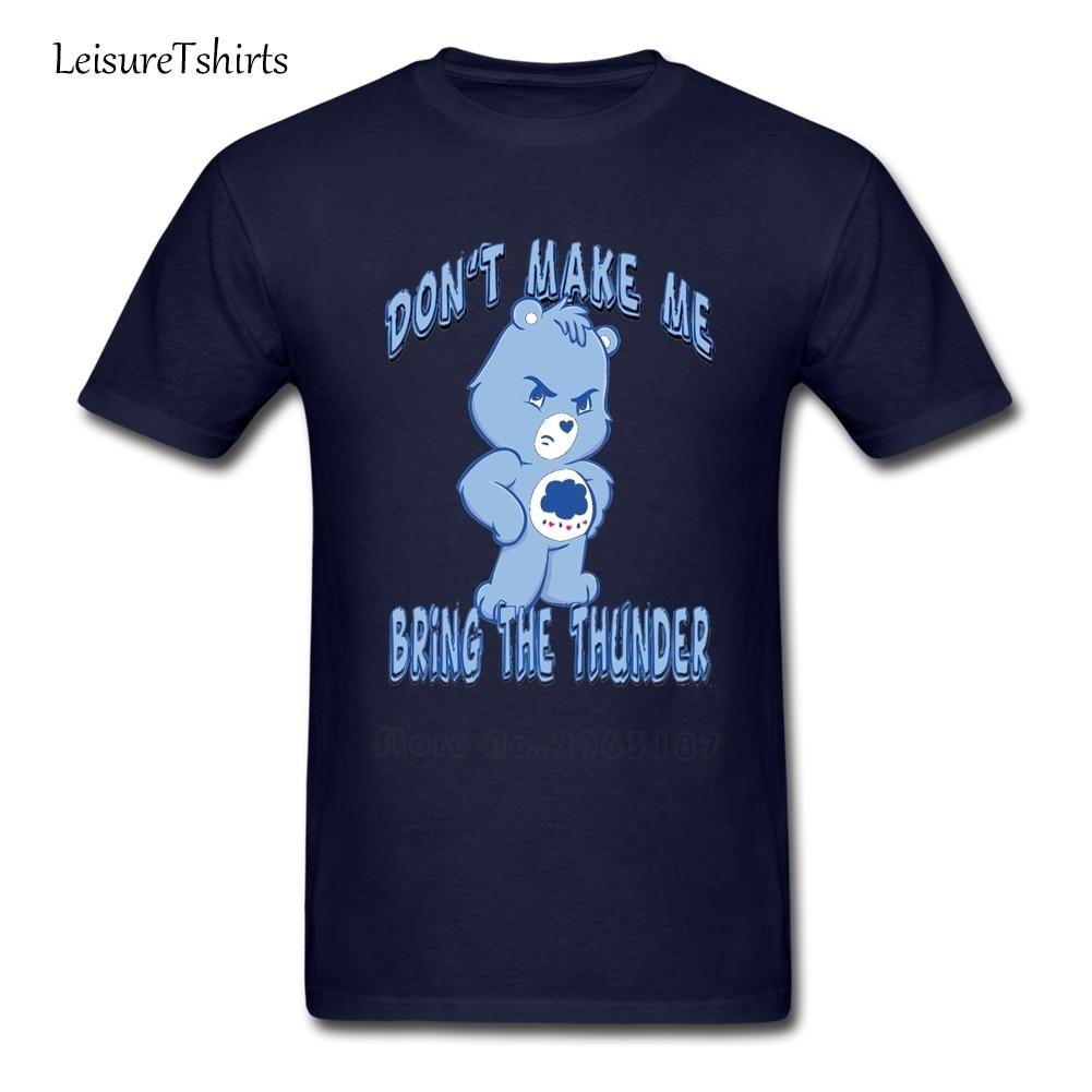Grumpy Care Bear Bring The Thunder T Shirt Men Short Sleeve O Neck Tee Adult Big Tops Great High Quality Loose Dad Camisetas