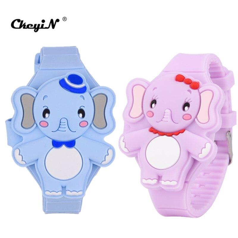 2 Teile/los Mode Jungen Uhren Nette Cartoon Tier Form Kinder Uhr Mädchen Led Digital Silikon Kinder Armbanduhr Bany Geschenk 30 Blut NäHren Und Geist Einstellen