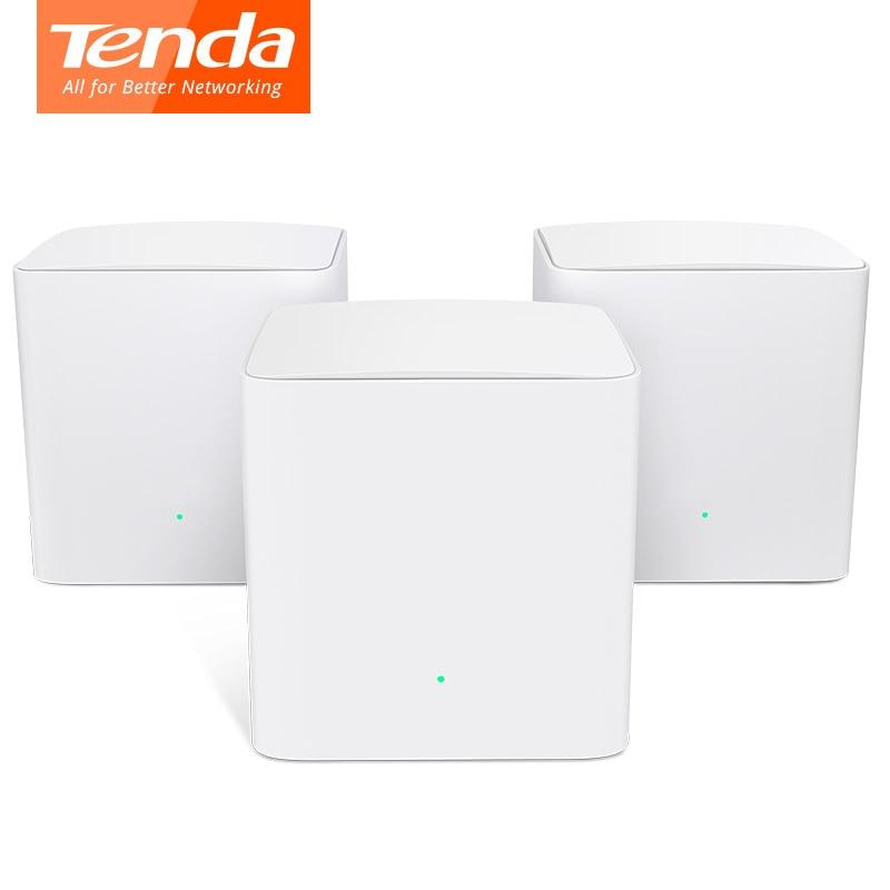 Tenda Nova MW5s double-bande Gigabit Wifi routeur maille WiFi système AC1200 pour toute la couverture de la maison pont Wi-fi, APP gestion à distance
