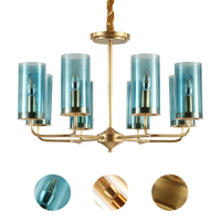 Новый китайский стиль столовая современный небольшой контракт гостиная кулон медные лампы