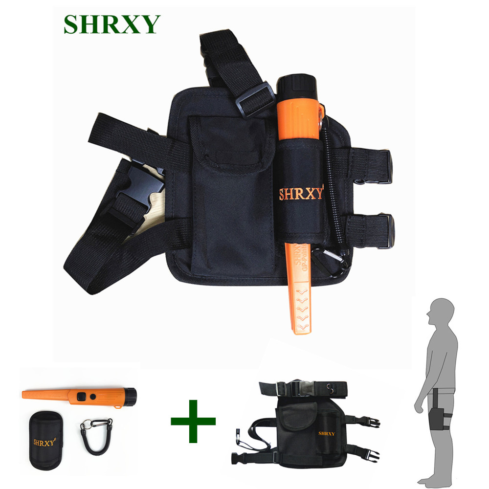 SHRXY Metal Detector Pointer TRX Pro Pinpointing GP-pointerII Waterproof Hand Held Metal Detector with Drop Leg Pouch Bag KIT цена