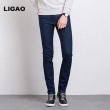 LIGAO 2017 Men's Jeans Casual Comfortable Full Length Trousers Pants Men Slim Spring Summer Denim Jeans Male Pencil Pants
