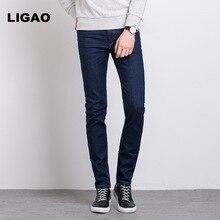 LIGAO 2017 Men's Jeans Casual Comfortable Full Length Trousers Pants Men Slim Spring Summer Denim Jeans Male Pencil Pants