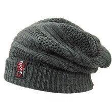 2016 New Knitted Mens Winter Hat for Men Wool Skullies Beanie Hats Bonnet Hip Hop Warm Cap