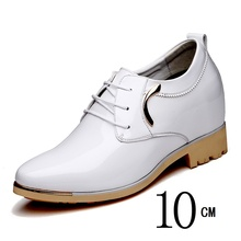 Newest Height Increase Elevator Shoes Get Taller for Short Men on Wedding Party Invisibly 8cm 10cm 12cm