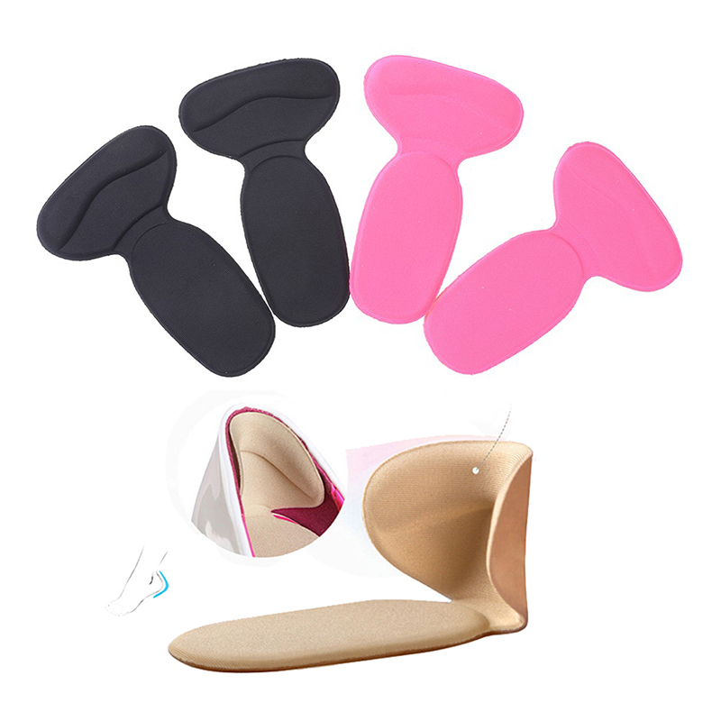 1Pair Women Super Soft Insole Non Slip Sponge Cushion Foot Heel Protector  Soft T-Shape Insoles High Heel Shoes Pad