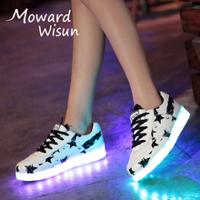 Fashion LED Sneakers Glowing Sneakers with Light Up Sole Luminous Children Kids Boys Infantil Shoes Basket