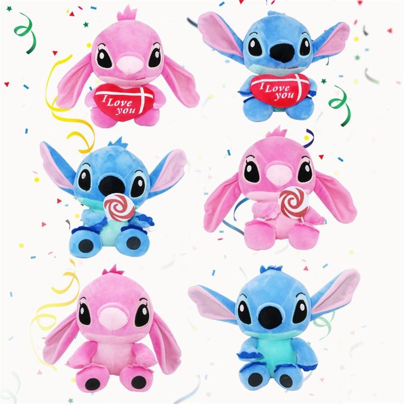 High quanlity Kawaii Stitch Plush Doll Toys Beanie Boos Anime Lilo and Stitch 20cm Stich Plush Toys for Kids Birthday Gift kawaii stitch plush doll toys anime lilo and stitch 25cm stich plush toys for children kids birthday gift