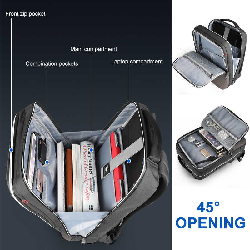 Tigernu nouveau 15.6 pouces sac à dos pour ordinateur portable fermeture éclair imperméable à l'eau Anti-vol hommes sac à dos école voyage sac mâle décontracté sac à dos pour hommes