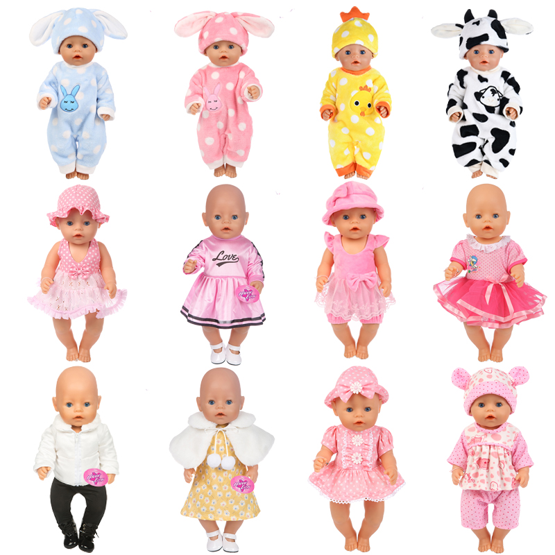 15Colors Girl Clothes Zapf Baby Born Doll Clothes Doll Accessories American Doll Dress Fashion Doll Children Best Gift american girl doll clothes superman and spider man cosplay costume doll clothes for 18 inch dolls baby doll accessories d 3