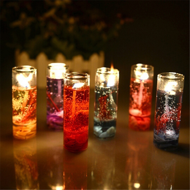 New Art Ocean Jelly Aromatherapy Candles Wedding Valentines Romantic Scented Candle Decoration Random Smokeless Candle  1