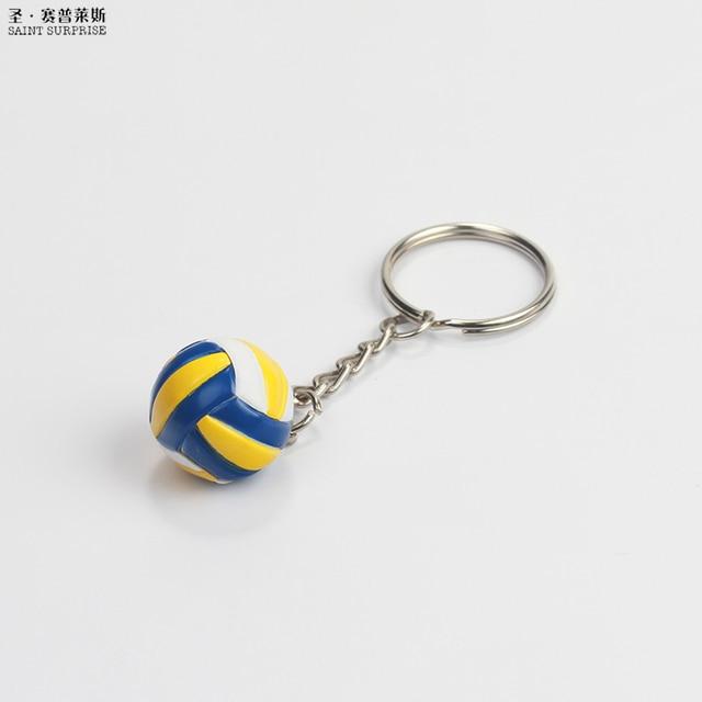 Llavero llavero Mini llavero de voleibol Holde/baloncesto/fútbol/béisbol/rugby para Perchero de coche