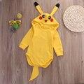 Newborn Baby Girl Boy Ropa de bebé Con Capucha Pikachu Lindo Bebé Traje de Bebé Recién Nacido, Niña, Niño Mono Ropa de Bebé