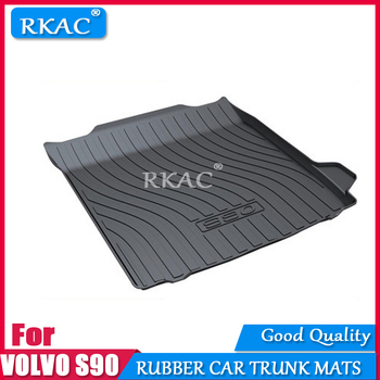 RKAC Rubber mats car trunk mat custom fit for Volvo S90 2016-2018 car rear cargo boot liner auto organizer c accessories