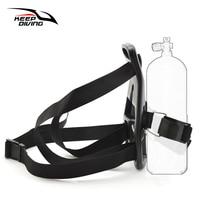 Diving Tank Bracket Oxygen Cylinder Back Holder Mount Swimming Backpack Support