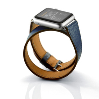 Genuine Leather Loop Band For Apple Watch 42mm 38mm Series 3 2 1 Replacement IWatch Double