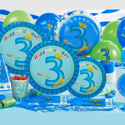 2018 nouveau Parti Anniversaire D'enfants Décoration Party Set Fournitures D'anniversaire Pack Tablewares Jetables tasse plaque cuillère fourches bannière chapeau