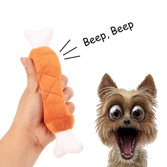 1 pz Ossa di Figura Della Peluche Giocattoli di Masticazione del Suono per il Gatto Cucciolo di Cane Giocattolo Interattivo Divertente Giocare Cane Prodotti
