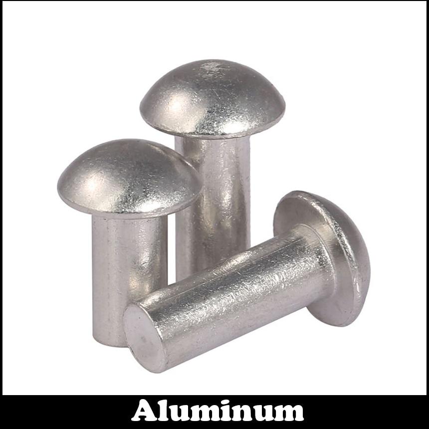 M3 M3*10 M3x10 M3*12 M3x12 GB867 DIN660 Silver Tone AL Aluminum Aluminium Cap Half Round Pan Head Solid Rivet 50pcs lot m2 m3 m4 gb867 round aluminum solid rivet alloy self plugging rivet hw173