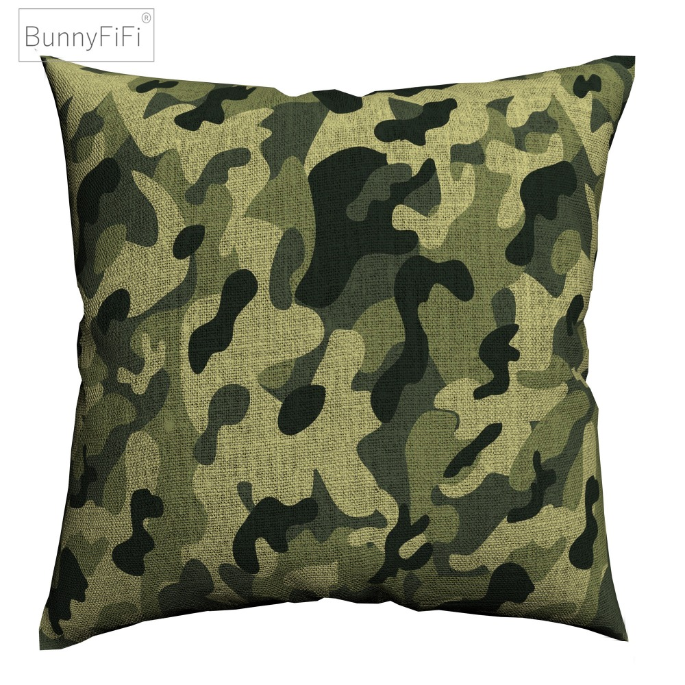 Camo//Camouflage Army Cotton Canvas Decorative//Throw Pillow//Cushion Case//Cover