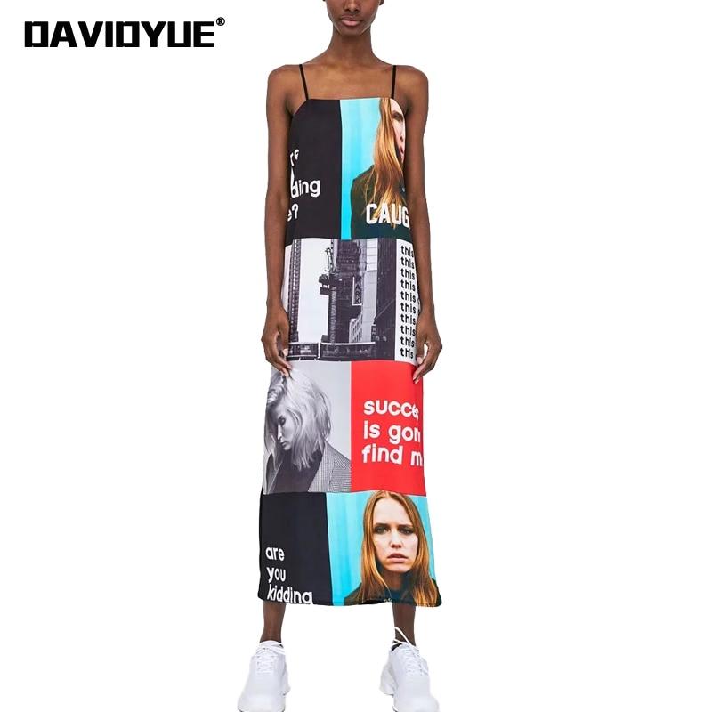 Sexy backless photo letter print maxi dress women sleeveless club beach dress 2018 street hip hop loose dresses Girl vestidos ...